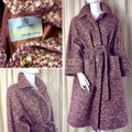 Snuggly Vintage 1970's Heather Chunky Wool Tweed Winter Coat Label: Aquascutum **SOLD**